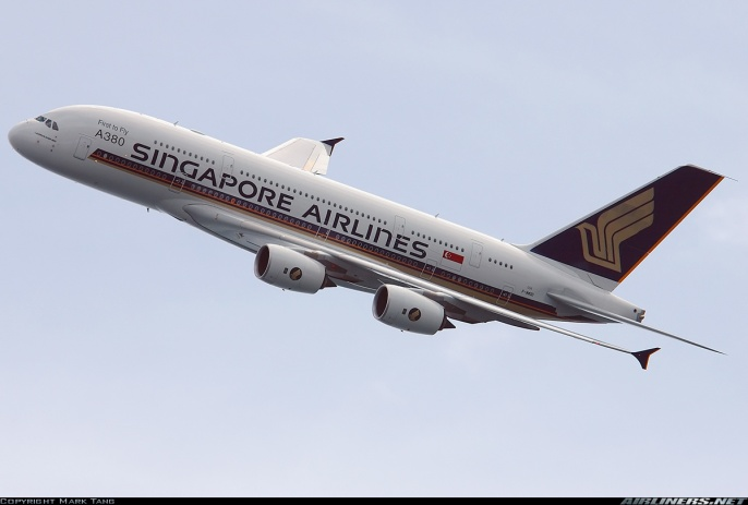 A380 in Singapore Airlineslivery