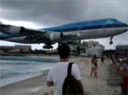 KLM 747 lands at St Marteen