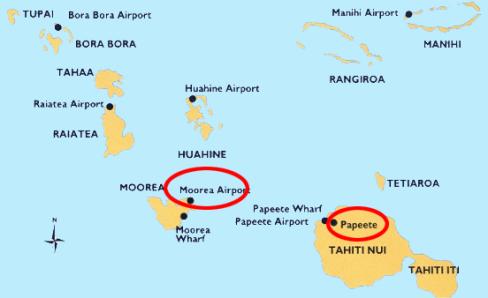 Maps World Map Tahiti