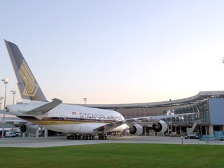 First A380 at the Airbus Delivery Center, Tolouse,France
