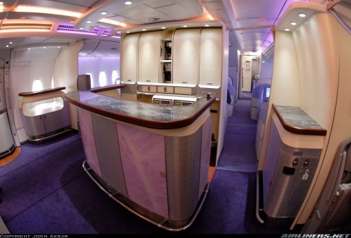 A380 Interior Bar on the Proving Flight (March, 2007)