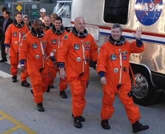 Atlantis crewmembers