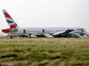 BA Boeing 777 after emergency landing at Heathrow - by CNN.com