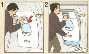 Emergency Exit opening instructions