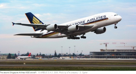 Second Airbus A380 delivered to Singapore Airlines (photo by SingarporeAirlines)