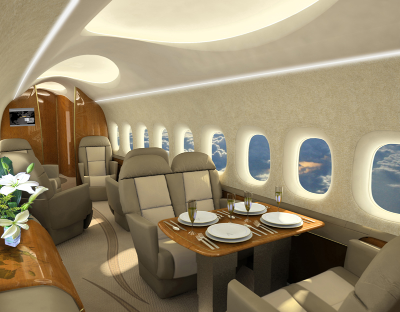 Supersonic Business Jet Interior - copyright by Aerion Corp.