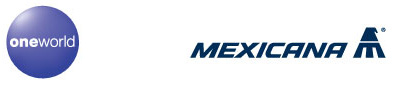 oneworld and Mexicana logos (by oneworld.com)