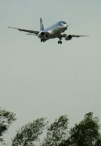 Sukhoi SuperJet landing after first flight - C by KNAAPO