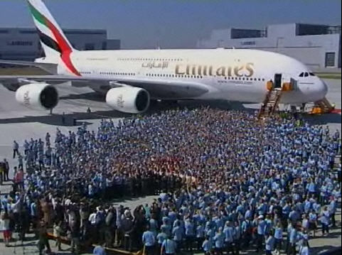 First Airbus A380 delivery to Emirates Airlines (c by Airbus)