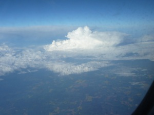 Stratus with a cumulonimbus