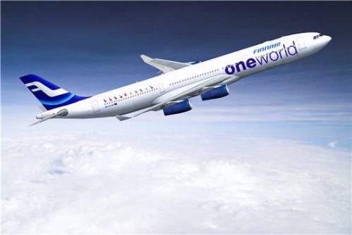 Finnair special anniversary oneworld livery Airbus A340 (c by oneworld)