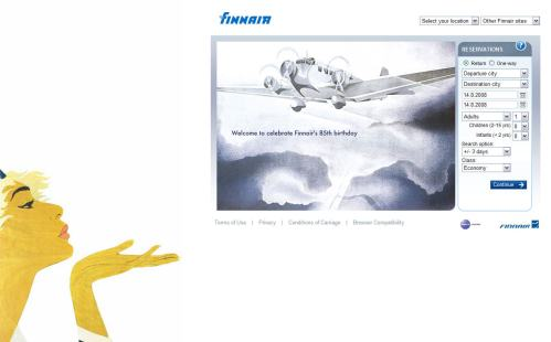 Main cover page of Finnair in Retro Style