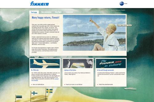 Retro Style Finnair 85th Anniversary Website