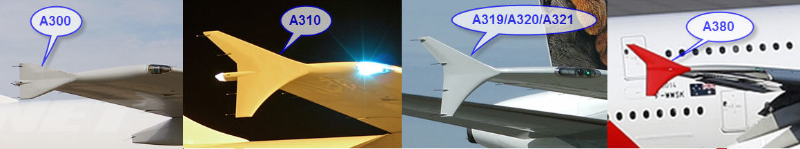 Airbus Winglets as seen from the outside