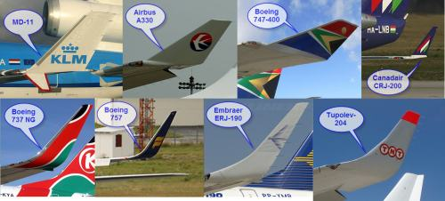 Blended Winglets on Several Aircraft Types