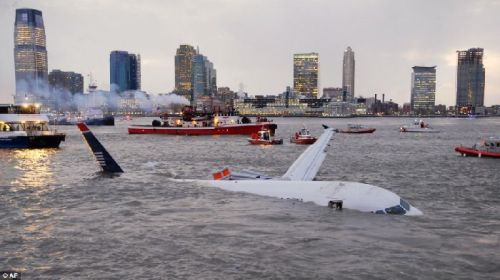 US Airways Airbus in the Hudson River in New York City - from webpark.ru