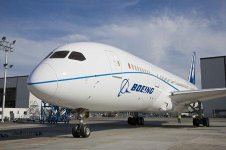 Boeing 787 Dreamliner in new flight test livery - c by Boeing.com