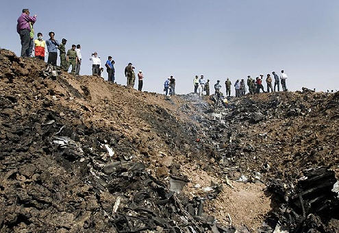 Caspian Airlines Crash Site - by Newsday.com