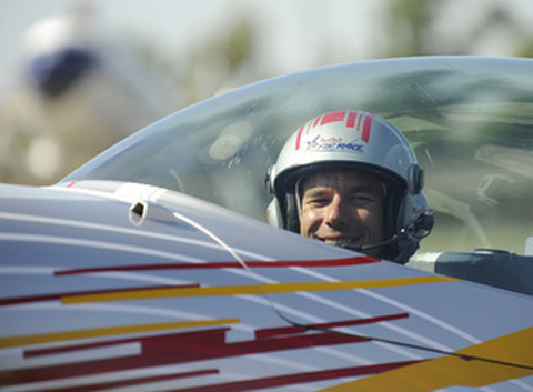 Loeb in an Air Race plane