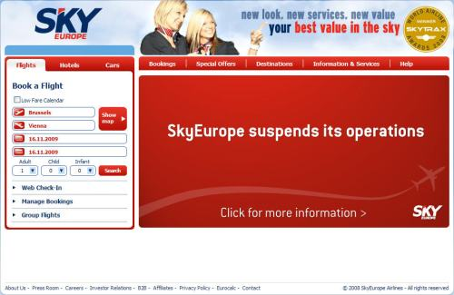SkyEurope_Website_Bankruptcy_Message