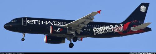 Etihad Airways Airbus A320 in special Formula-1 livery - by Md Faridz on airliners.net