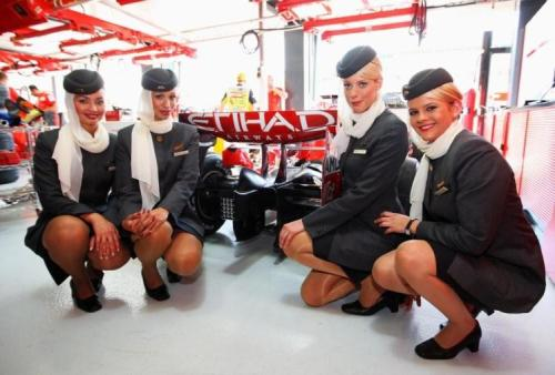 Ferrari with Etihad Airways Cabin Crew
