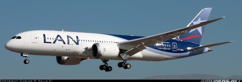 LAN Boeing 787 Dreamliner   - by Carlos P. Valle C. on airliners.net