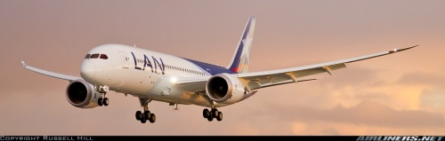 LAN Boeing 787 - c by Russell Hill on airliners.net