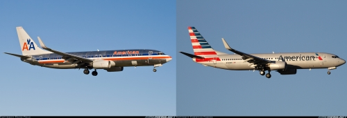 Boeing 737-800 American Airlines Old and New livery - images from airliners.net - by David Field and Christian Eggers