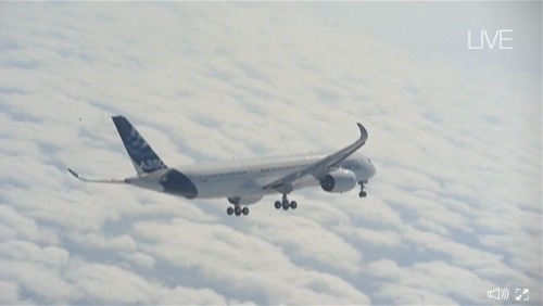 Airbus A350 XWB First flight (Live from Airbus.com)