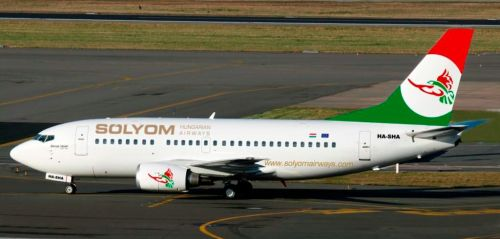 Artist's rendering of Sólyom Hungarian Airways B737-500 livery - from radarfigyelo.hu