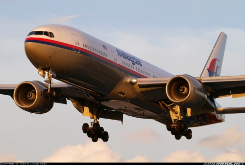 The Malaysia Airlines Boeing 777-200ER that operated flight MH370.